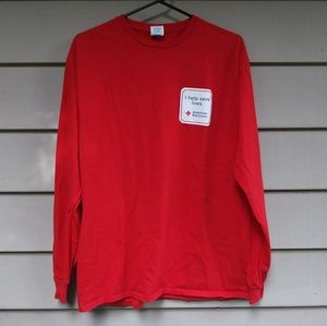 🍉$10 American Red Cross Long Sleeve Shirt